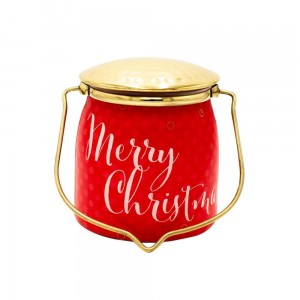 Milkhouse Candles Merry Christmas Sentiments Wrapped Butter