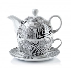 Dzbanek porcelanowy z filiżanką Clarisa Jungle Tea For One 480 ml