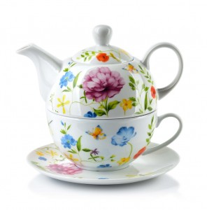 Dzbanek porcelanowy z filiżanką Clarisa Blossom Tea For One 460 ml