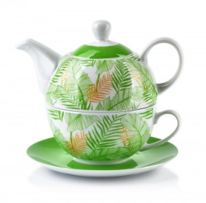 Dzbanek porcelanowy z filiżanką Clarisa Green Tea For One 460 ml