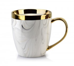 Kubek porcelanowy złote ucho Georgia Gold 480 ml